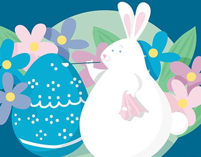 easter egg, easter bunny