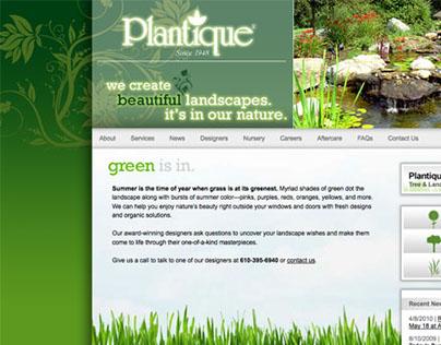 Plantique Web Design