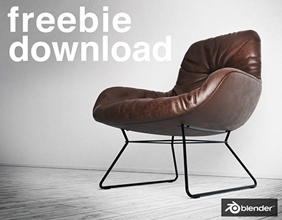 The Leya Lounge Chair - Free Model - Blender3D