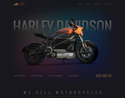 Motorcycle sales landing page