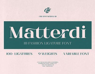 Matterdi - Hi-fashion ligature font