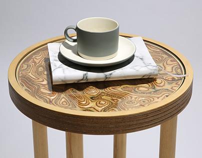 Plywood & Cork Ripple Table