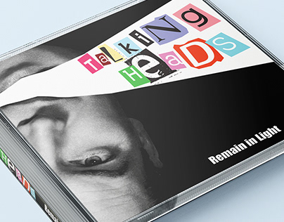 CD Cover Mockup- Talking heads: Remain in Light