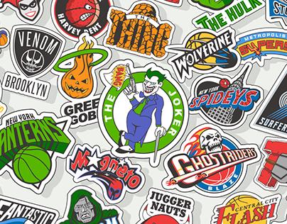 NBA x Superhero Mashup