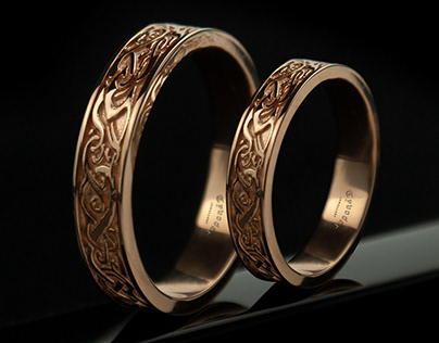 Viking jewellery, Nordic wedding band - Tyvodar .com