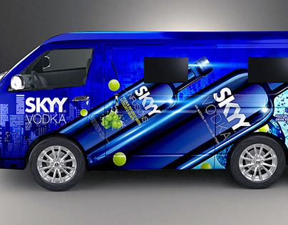 Skyy Vodka Vehicle Wrap