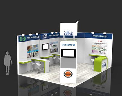 "Exhibition kiosk for ""Elasys"" company"