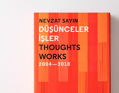 Düşünceler/İşler — Thoughts/Works Book Design