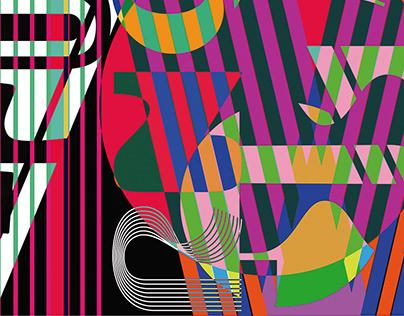 Modernist Alphabet Poster