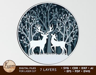 Multilayer Cut File PANNO DEER
