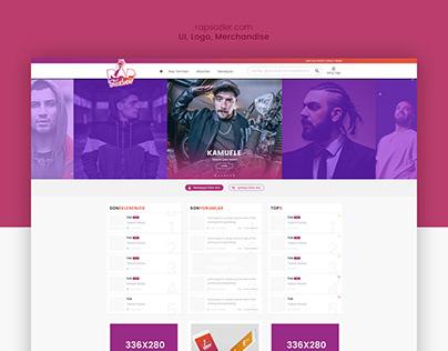 rapsozler.com UI Design
