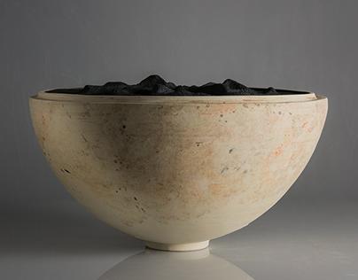 Intre - collaboration ceramic piece 2019