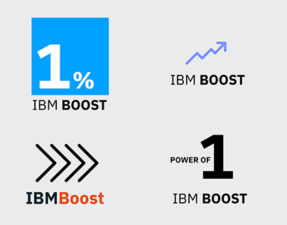 Logos for IBM Boost Campaign
