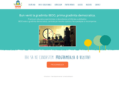 Gradinita IBOO - Website design