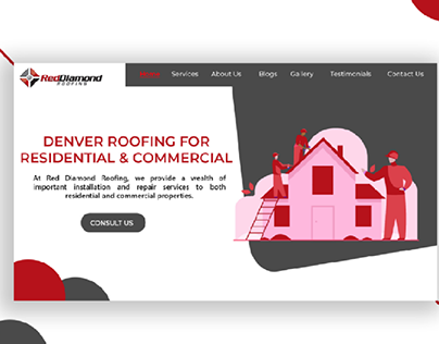 RED DIAMOND ROOFING UI/UX
