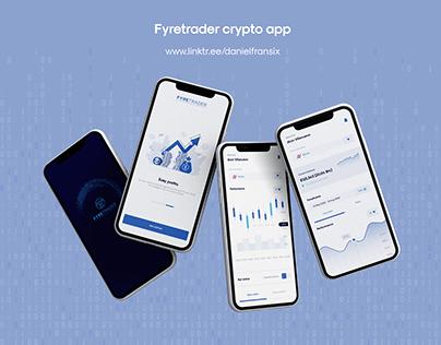 Fyretrader crypto trading app ui/ux design