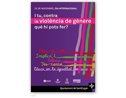 Contra la violència de gènere (Ajuntament Sant Cugat)