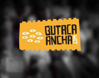 Butaca Ancha - Identity for a movie review blog
