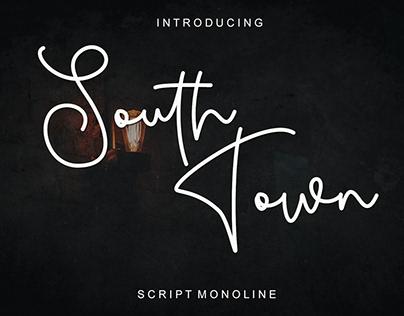 South Town - Free Monoline Script Font