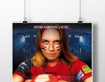 Campagne publicitaire - Club Handball de Lille-Lomme