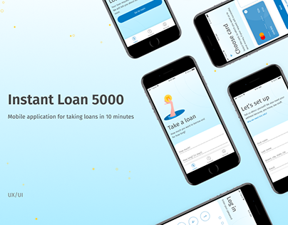 Instant Loan 5000 - Mobile application for taking loans
