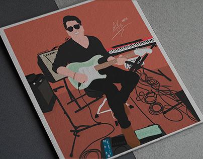 Musician illustration / Mike Mejía
