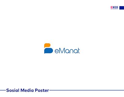eManat üçün hazırlanmış sosial media posterləri