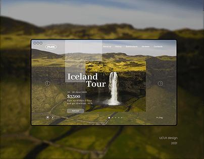 Iceland tour landing page UI/UX