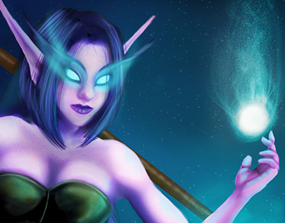 Night Elf Painting Practice