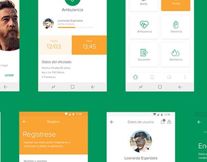 Merlo Alert | App design