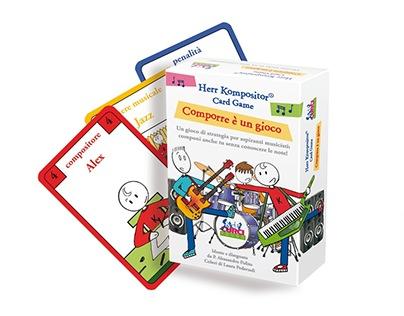 Design e colori card game Herr Kompositor (2016)