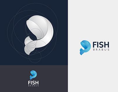 Golden Ratio Logo Design for FISH BRABUS