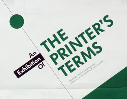 The Printer's Term