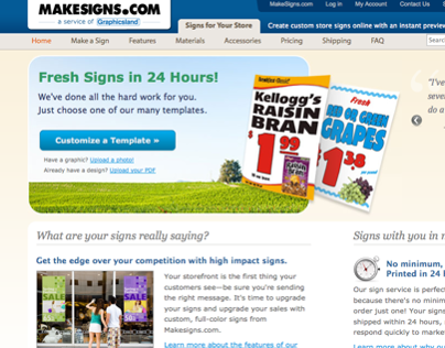 MakeSigns.com Website Redesign