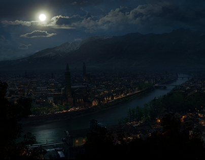 Verona by night [Matte Painting]