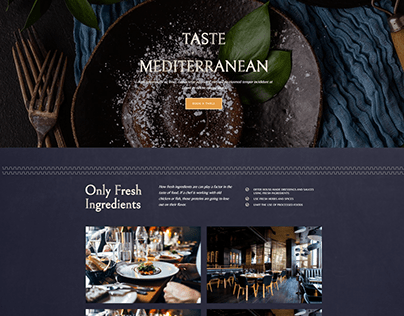 Restaurant Website Homepage