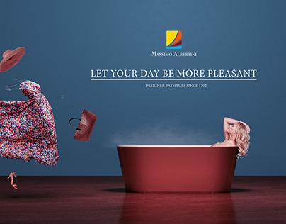 Designer bathtubs ad
