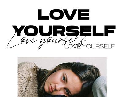 Love yourself, no quarrel