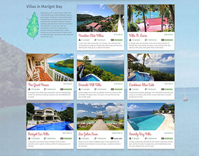 Oasis Marigot St-Lucia Villas Web Design