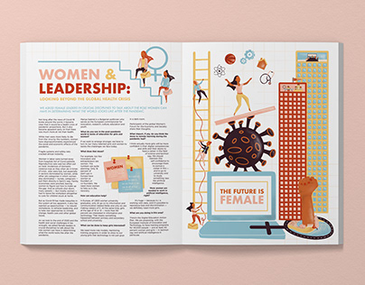 Women & Leadership: Editorial Illustration