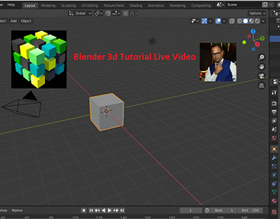 Live Blender 3d Modelling Rendering Tutorial