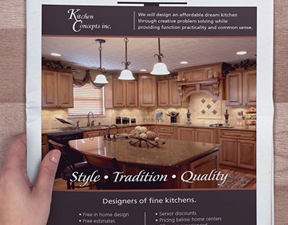 Kitchen Concepts | Newspaper Ad