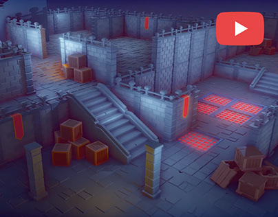 Low Poly Modular Dungeon Pack - Unity & Blender 2.8