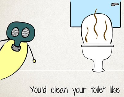 Thinksafe Toilet Cleaner | Animation