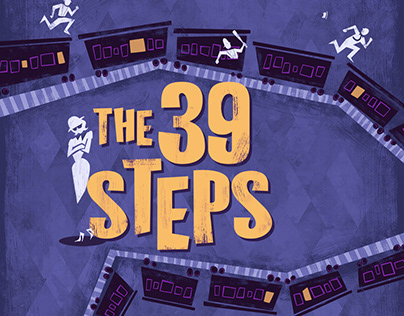 Production poster for The 39 Steps