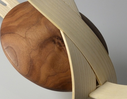 Wooden Disk and Holder