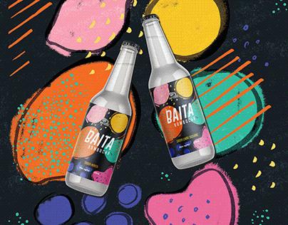 Visual Identity & Beverage Packaging - !BAITA Kombucha