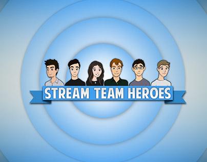 Cartoons For Stream Team Heroes