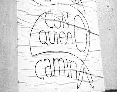 Caminar con quien camina // Afiche Madres Plaza de Mayo