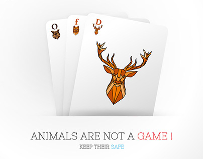 Advertising campaign against killing animals